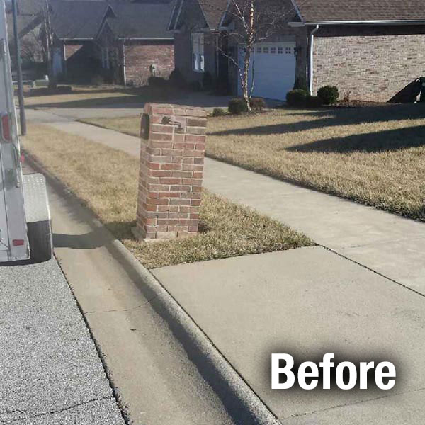 Northern Virginia Brick Mailbox Leveling - Before