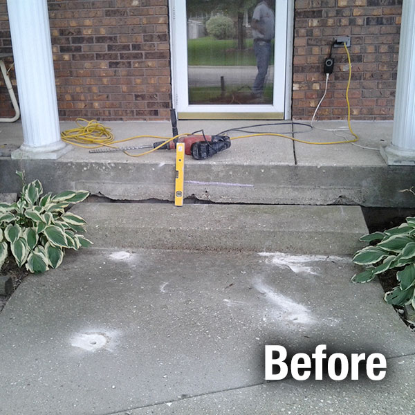 Northern Virginia​ Concrete Steps Leveling - Before