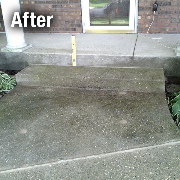 Northern Virginia​ Concrete Steps Leveling - After
