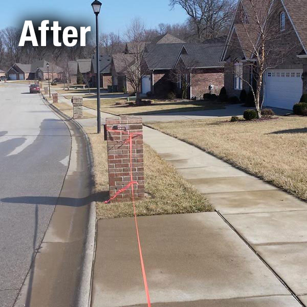 Northern Virginia Brick Mailbox Leveling - After