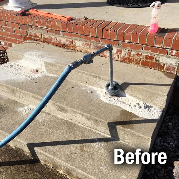 Northern Virginia Concrete Step Repair - Before