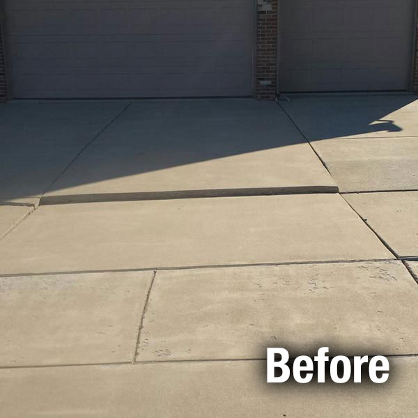 A-1 Concrete Northern Virginia Driveway Leveling Before