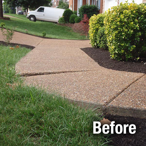 Northern Virginia Concrete Sidewalk Leveling - Before