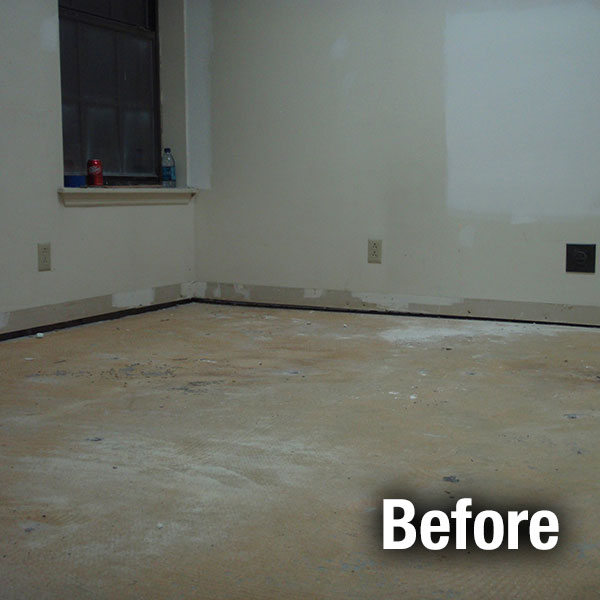 Northern Virginia​ Concrete Floor Leveling - Before