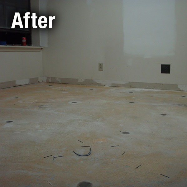 Northern Virginia​ Concrete Floor Leveling - After